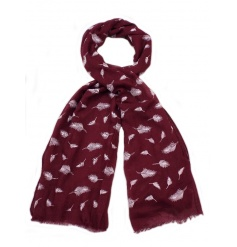 Look stylish this season with this mix of 3 winter coloured scarves with a delicate leaf pattern.