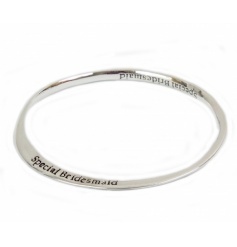 A gorgeous silver bangle making the perfect gift for your Special Bridesmaids.