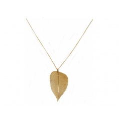 A beautiful gold leaf necklace. A stunning seasonal fashion accessory.