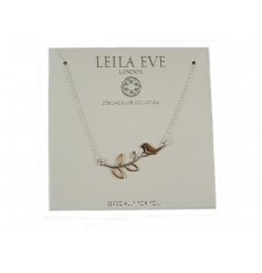Especially for you. A beautiful sterling silver bird on branch necklace by Leila Eve.