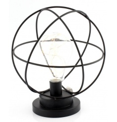 A rustic style sphere lamp with LED light. A stylish home accessory.