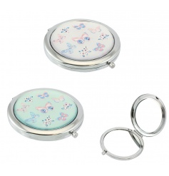 A mix of 2 pretty and practical compact mirrors in butterfly designs.