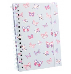 Stay organised with this stylish hard cover notebook with butterfly design