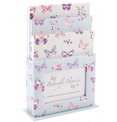 Keep organised with this fabulous gift set including storage holder, photo frame, journal and memo pads.