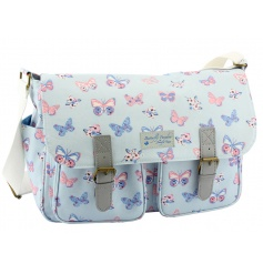 A practical and stylish saddle bag in the popular butterfly paradise design.