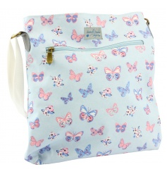A practical and stylish cross body bag with the popular butterfly paradise design by Jennifer Rose.