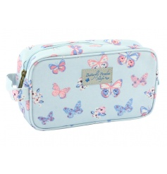 A stylish and practical small wash bag with a pretty butterfly print by Jennifer Rose.