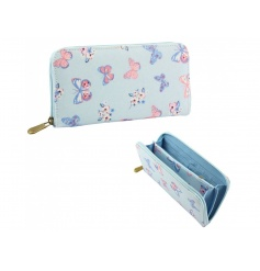 A large wallet with plenty of storage compartments. In the popular butterfly design.