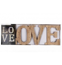 Stay on trend with this popular LED wooden love sign. A beautiful home accessory.