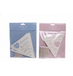 Adorable baby bunting in blue and pink designs. Ideal for parties, events and interior decor.