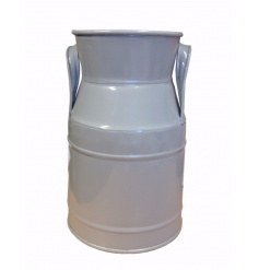 A grey churn. A great decorative item, planter and vase.