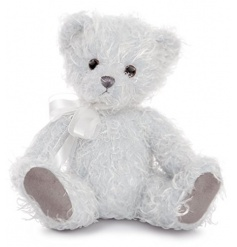 Make someone's day this season with this beautiful luxury teddy bear with bow.