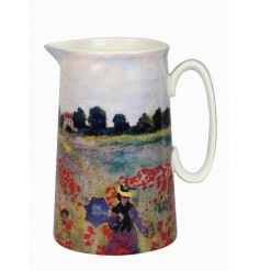 An attractive jug decorated in the popular Poppy Field design by Monet.