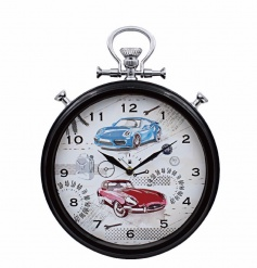 A unique wall clock with a vintage and contemporary car design. A great gift item.