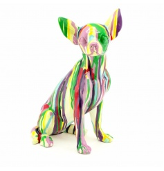 A contemporary style art chihuahua dog figurine.