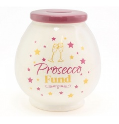 Save those pennies for your prosecco fund with this stylish money pot with gift box.
