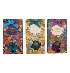 A set of 12 t-lights in an assortment of richly scented fragrances.