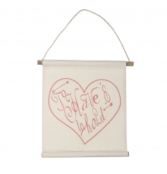 A pretty fabric hanging sign with a 'to have and to hold' slogan. A great gift item and home accessory.