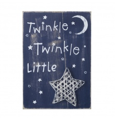 A charming shabby chic style wooden sign with a 3D star feature. A lovely home accessory.