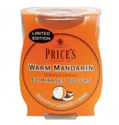 A limited edition warm mandarin scented candle with extracts of ginger. From Prices Fresh Air range.