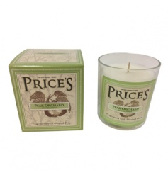 A beautifully scented Pear Orchard candle with gift box. From Prices Heritage range.