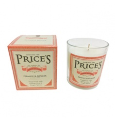 A classic orange and ginger scented candle with stylish packaging. From Prices heritage range.