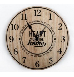 This kitchen is the heart of the home. A stylish wooden clock from the popular Heart of the Home range.
