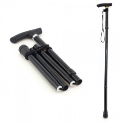 A classic walking stick with folding function.