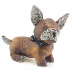Don't miss out on this super popular faux leather doorstop with bow.