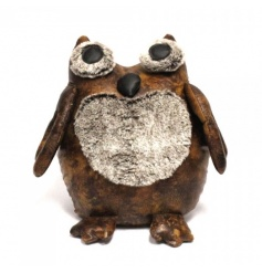 A cosy owl doorstop in faux leather with faux fur details. A great home accessory!