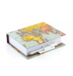 This stylish memo pad with pen makes a great gift item. Ideal for storing notes and those travel adventures.