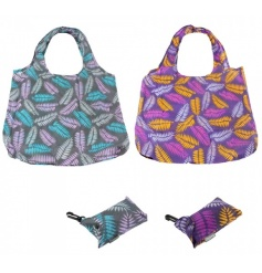 A mix of 2 country fern design clip bags. A stylish and practical shopper!