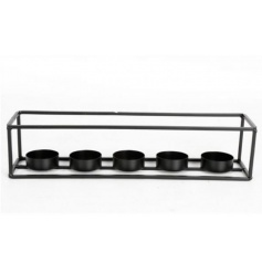A contemporary style t-light holder for 5 candles. A great centrepiece item for the home.