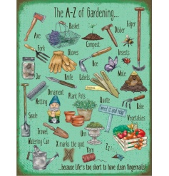 A quirky way to remember all the gardening necessities
