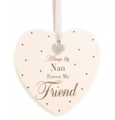 Nan Heart Plaque Mad Dots