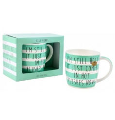 Hot flushes gift boxed china mug