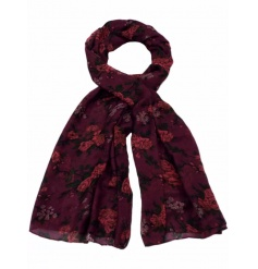 Beautifully colour assorted floral scarves, each with their own bold colouring