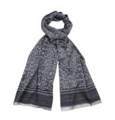 An assortment of 3 snake skin design pashmina scarves.