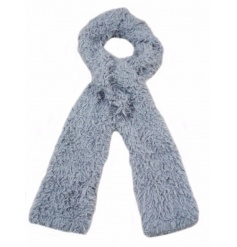 Cosy and snuggly faux fur scarves in neutral grey and cream tones.