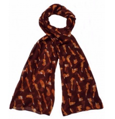 A stylish woodland fox scarf available in 4 assorted designs.