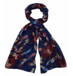 An assortment of 4 beautifully coloured glitter leaf scarves. A stylish accessory this season.
