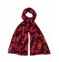 An assortment of stylish butterfly scarf designs in rich seasonal colours.