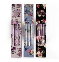 An assortment of 3 antique floral drawer lines, each with a beautiful fragrance.