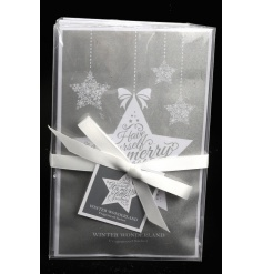 A stylish white and silver scented sachet in a festive slogan design. A great gift item and stocking filler!