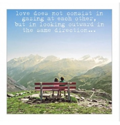 Sweet  Greeting Card with Loving Quote