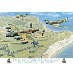 The Battle Of Britain memorial flight metal sign. A fine quality gift item and decoration for the home.