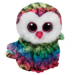 Keep your little ones entertained with this adorable fluffy rainbow owl Beanie Baby from the popular TY range