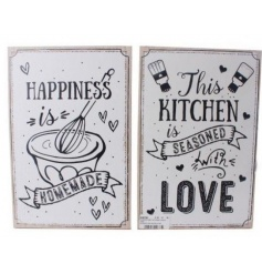2 sweet assorted plaques, with loving home and kitchen themes
