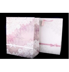 This beautiful assortment of 2 large gift bags are an elegant way to give gifts to any Wedding, Birthday, christening, a