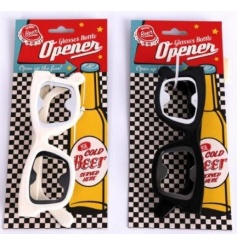 An assortment of 2 retro sun glasses beer bottle openers. A unique bottle opener and gift item!